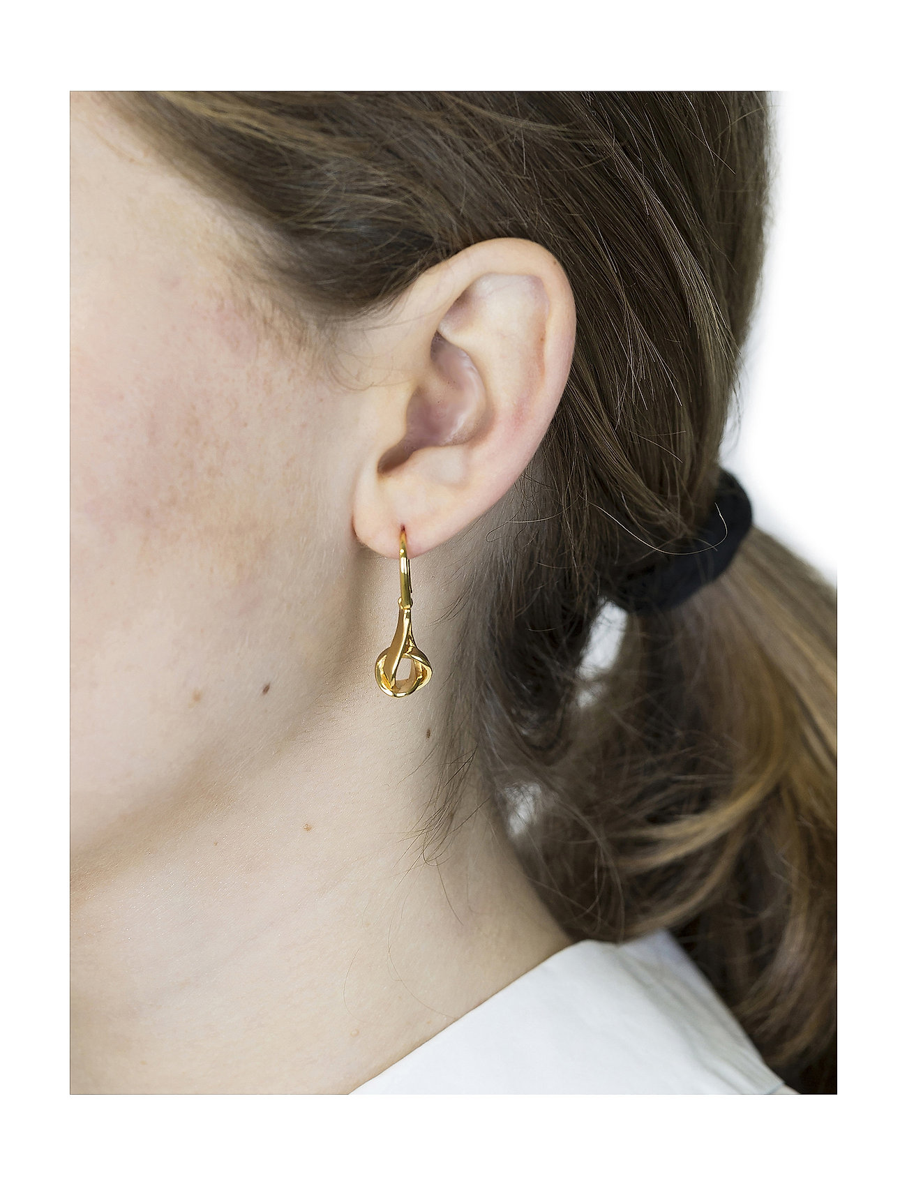Syster P - Tied  Earrings Gold - pendant - gold