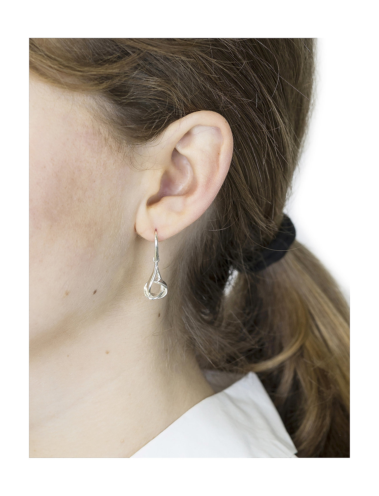 Syster P - Tied  Earrings Silver - pendant - silver