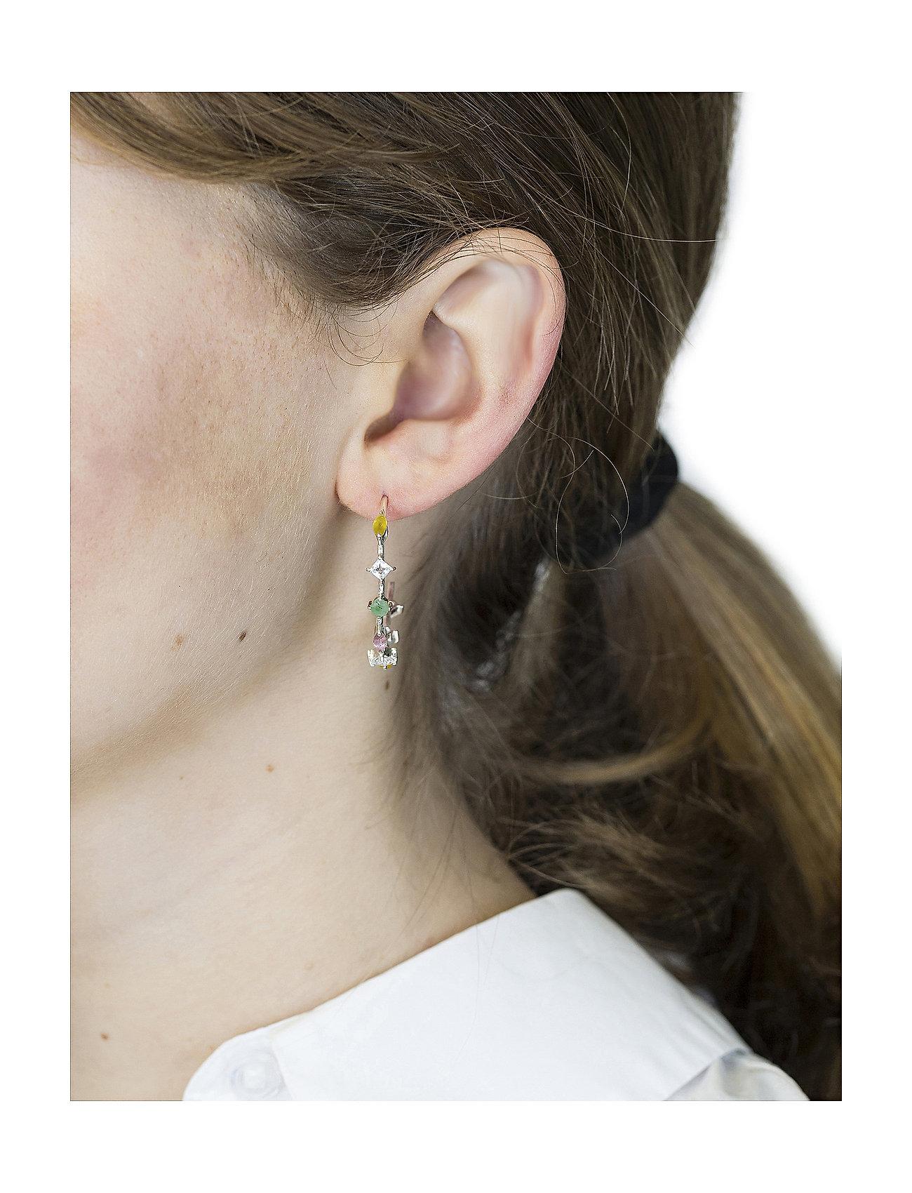 Syster P - Divine Hoop Earrings Silver - korvarenkaat - silver