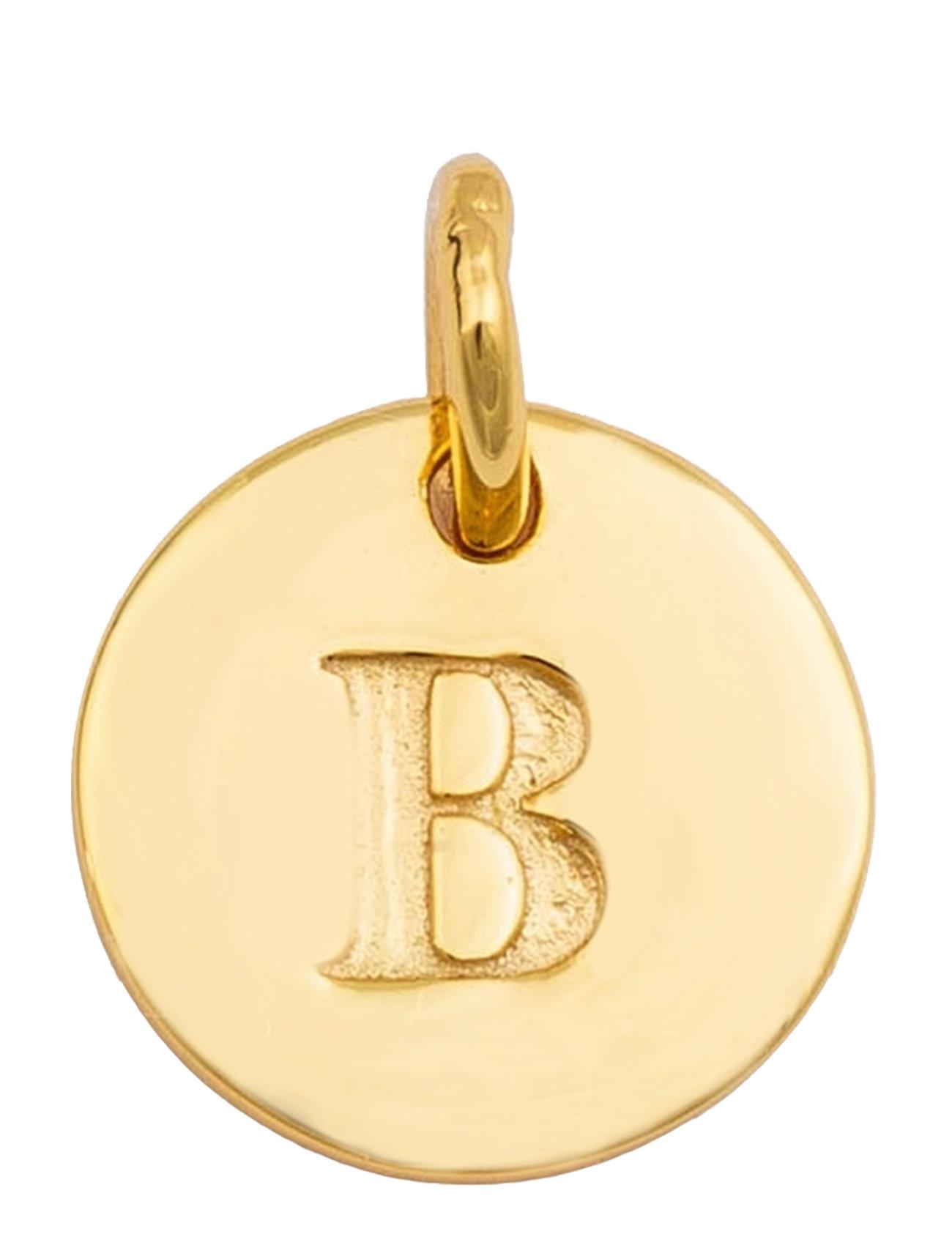 Beloved Mini Letter Gold Halskæde Hængesmykke Guld Syster P