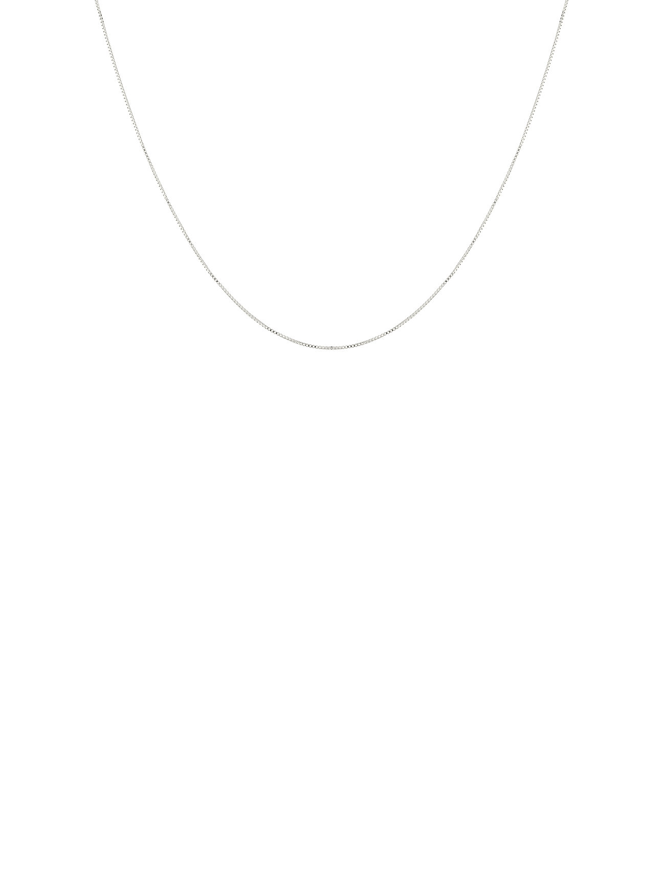 Beloved Medium Box Chain Silver Accessories Jewellery Necklaces Dainty Necklaces Sølv Syster P