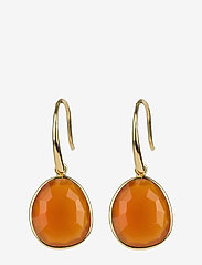Syster P - Glam Glam Earrings Gold - oorhangers - carnelian - 0