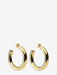 Syster P - Bolded Big Hoop Earring Gold - hopen - gold - 0