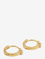 Syster P - Mini Princess Hoop Earrings Gold - hopen - gold - 0