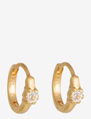 Syster P - Mini Princess Hoop Earrings Gold - hopen - gold - 1