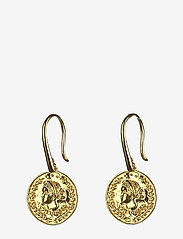 Syster P - Beaches Aphrodite Earrings Gold - oorhangers - gold - 0