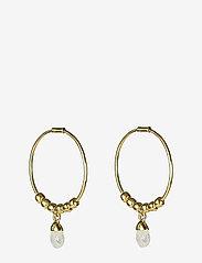Syster P - Mini Teardrop Earrings Gold - korvarenkaat - gold - 0