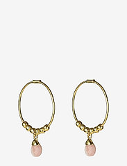 Syster P - Mini Teardrop Earrings Gold - korvarenkaat - gold - 0