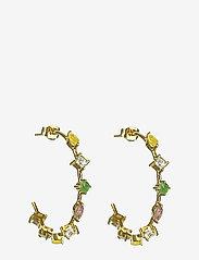 Syster P - Divine Hoop Earrings Gold - korvarenkaat - gold - 0