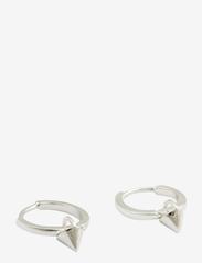 Syster P - Mini Cone Hoop Earrings Silver - hopen - silver - 1