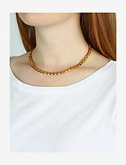 Syster P - Links Curb Chain Necklace Gold - kettingen  - gold - 1