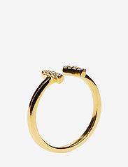 Syster P - STRICT SPARKLE BAR RING GOLD - ringen - gold - 1