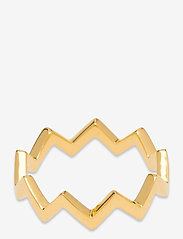 Syster P - Strict Plain Zigzag Ring Gold - ringen - gold - 1