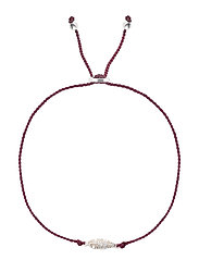 Sparkle Bracelet Feather Silver Grape - GRAPE