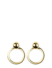 PLANET EARRINGS GOLD GOLD - GOLD