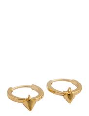 Mini Cone Hoop Earrings Gold - GOLD