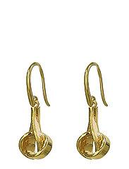 Tied  Earrings Gold - GOLD