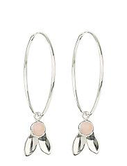 Flakes Hoops Pink Opal - PINK OPAL