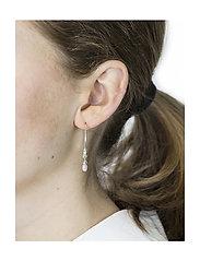 Syster P - Mini Teardrop Earrings Silver - korvarenkaat - silver - 1