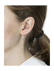 Syster P - Divine Long Earrings Silver - pendant - silver - 1