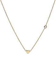 Syster P - Sparkle Necklace Gold Heart Green Aventurine