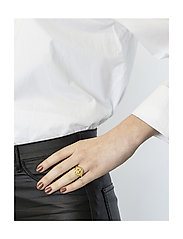 Syster P - Beaches Aphrodite Ring Gold - sormukset - gold - 1