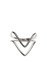 Tiny Arrow Fingertip Ring Silver - SILVER
