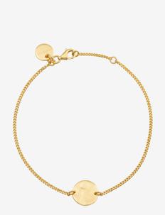 MINIMALISTICA HAMMERED CIRCLE BRACELET GOLD - GOLD