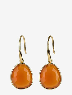 Glam Glam Earrings Gold - CARNELIAN