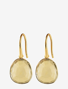 Glam Glam Earrings Gold - pendant - lemon
