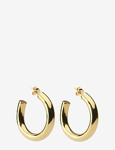 Bolded Big Hoop Earring Gold - GOLD