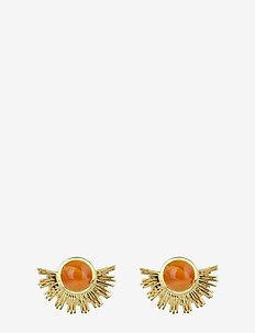 Sunburst Earrings Gold - CARNELIAN