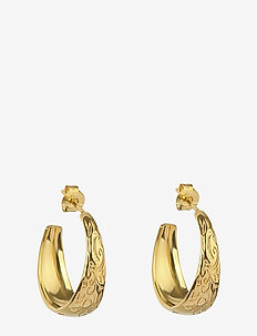 Kristine  Small Hoops Gold - GOLD