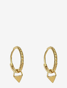 Mini Cone Hoop Earrings Gold - hoops - gold