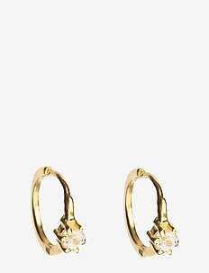 Mini Princess Hoop Earrings Gold - hoops - gold