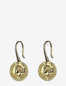 Beaches Aphrodite Earrings Gold - wiszące kolczyki - gold