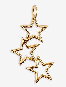 Beloved Mega Pendant Gold Triple Star - pendentifs - gold