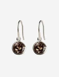 LONE STAR EARRINGS SMOKEY, SILVER - SILVER