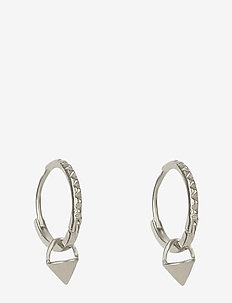 Mini Cone Hoop Earrings Silver - SILVER