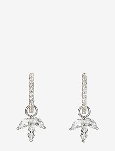 Miss Diamond Earrings Silver - SILVER, WHITE TOPAZ