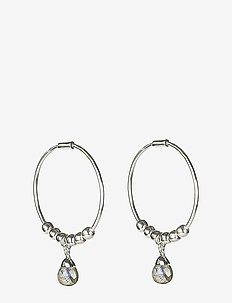 Mini Teardrop Earrings Silver - hopen - silver