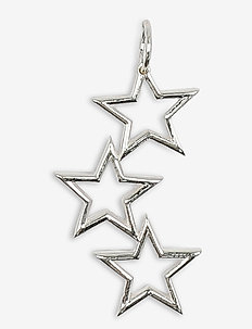 Beloved Mega Pendant Silver Triple Star - pendentifs - silver