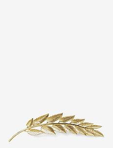 Big Leaf Hair Pin Gold - hair accessories - gold