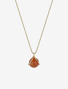 PLANET NECKLACE GOLD RED ONYX - kettingen met hanger - gold