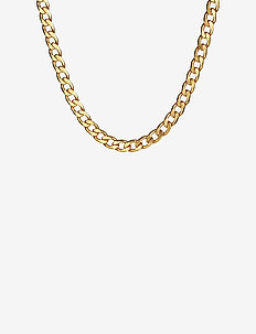 Links Curb Chain Necklace Gold - GOLD