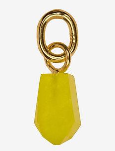 Beloved Cut Stone Gold Yellow Jade - hangers - gold