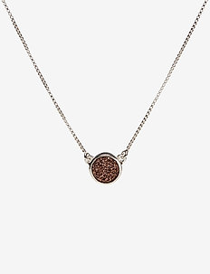 Frances Druzy Necklace Silver Rose - SILVER