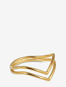 Tiny Arrow Fingertip Ring Gold - ringar - gold