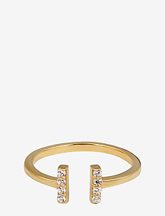 STRICT SPARKLE BAR RING GOLD - GOLD