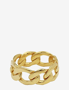 Links Curb Chain Ring Gold - GOLD